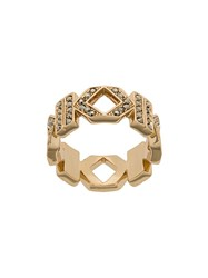 Karl Lagerfeld Double K Ring Gold