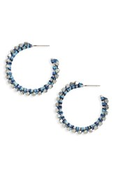 Treasure And Bond Women's Beaded Hoop Earrings