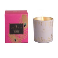Sara Miller Printed Glass Soy Wax Candle 240G Sandalwood Oud And Cardamom