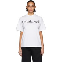 Aries White New Balance Edition Unbalanced T Shirt