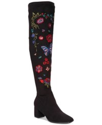 Impo Judy Embroidered Over The Knee Boots Women's Shoes Black