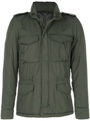 Aspesi Zipped Fitted Jacket Cotton Polyester S Green