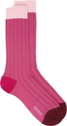 Richard James Mid Calf Socks Pink