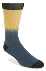 Richer Poorer Men's Swell California Collection Ombre Socks Navy Yellow