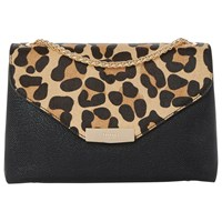 Dune Eddison Envelope Clutch Bag Leopard