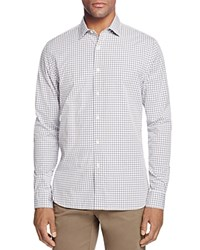 Bloomingdale's The Men's Store At Two Tone Gingham Slim Fit Button Down Shirt Dark Blue