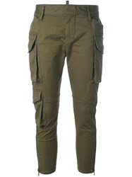 Dsquared2 Skinny Cropped Cargo Pants Green