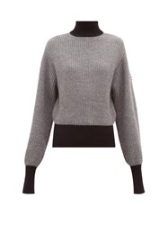 Fusalp Muzelle Panelled High Neck Sweater Grey