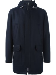 Eleventy Hooded Coat Blue