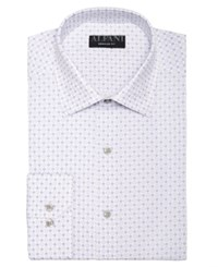 Alfani Alfatech By Classic Regular Fit Performance Stretch Circle And Geometric Print Dress Shirt Created For Macy's White Purple