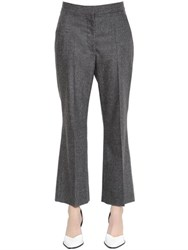 Stella Mccartney Flared Wool And Cashmere Pants