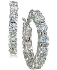 Giani Bernini Cubic Zirconia Hoop Earrings In 14K Gold Plated Sterling Silver Created For Macy's