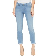 Liverpool Remy Hugger Crop With Shaping And Slimming Four Way Stretch Denim In Halo Ultra Light Halo Ultra Light Women's Jeans Blue