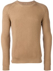 Nuur Cable Knit Jumper Nude And Neutrals