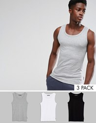 French Connection 3 Pack Lounge Vest Multi