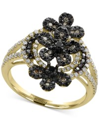 Effy Caviar By Diamond Cluster Ring 1 Ct. T.W. In 14K Gold Yellow Gold