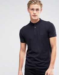 Firetrap Oil Washed Polo Shirt Black