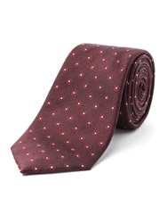 Racing Green Madox Flower Design Tie Wine