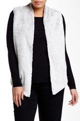 Tart Kya Faux Fur Vest Plus Size Gray