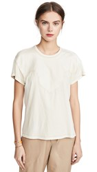 The Great Great. Western Boxy Crew Tee Washed White