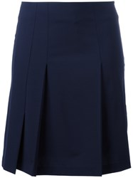 Cacharel Pleated Detail Skirt Blue