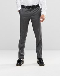 Farah Skinny Dogtooth Trousers Light Grey