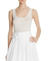 Vince Scoop Neck Layering Tank White