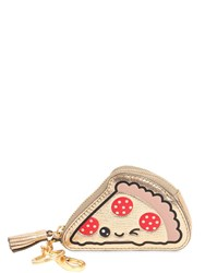 Anya Hindmarch Pizza Slice Metallic Leather Coin Purse