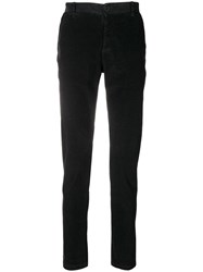Transit Corduroy Straight Trousers Black