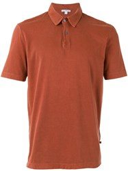James Perse Classic Polo Shirt Yellow Orange