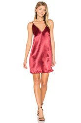Minkpink Boudior Slip Dress Red