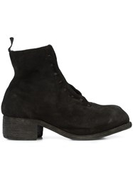 Guidi Laced Ankle Boots Black