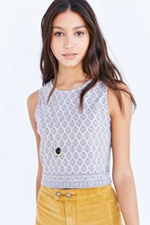 Truly Madly Deeply Everday Cropped Tank Top Taupe