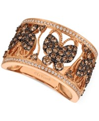 Le Vian Chocolatier Diamond Butterfly Ring 1 Ct. T.W. In 14K Rose Gold