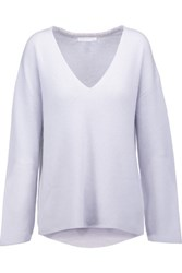 Duffy Ribbed Cashmere Sweater Sky Blue