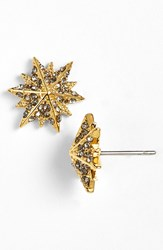 Louise Et Cie 'Micro Pave' Star Stud Earrings Gold Black Diamond