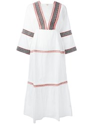 Daft Embroidered Kaftan Dress White