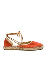 Free People Marina Lace Up Espadrille Orange