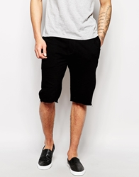 Asos Jersey Shorts In Longer Length Black