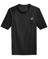 Hurley Short Sleeve Icon Rash Guard Black