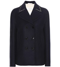 Valentino Wool Coat Blue