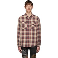 Amiri Red And White Flannel Shirt