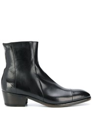 Silvano Sassetti Leather Ankle Boots Black
