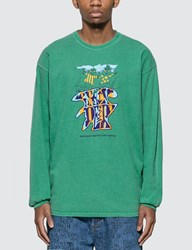 Brain Dead Leon Long Sleeve T Shirt Green