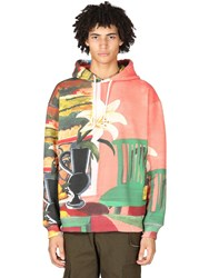 Jacquemus Printed Cotton Blend Jersey Hoodie Multicolor