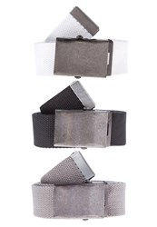 Your Turn 3 Pack Belt Black Grey White