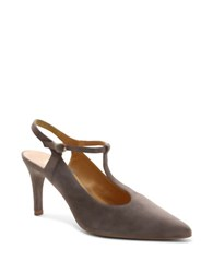 Andre Assous Olenna Suede T Strap Pumps Taupe