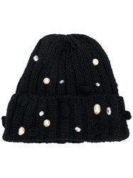 Ca4la Embellished Beanie Hat Black