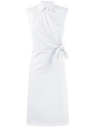 J.W.Anderson Sleeveless Stripe Dress White