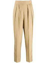 Theory Pleated Trousers Neutrals
